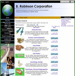 B. Robinson Corporation e-commerce site