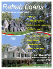 FHA 203k rehab loan flyer