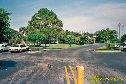 View looking east towards Siemens headquarters building in Boca Raton circa 1986. This was the STP building in Arvida Park of Commerce.